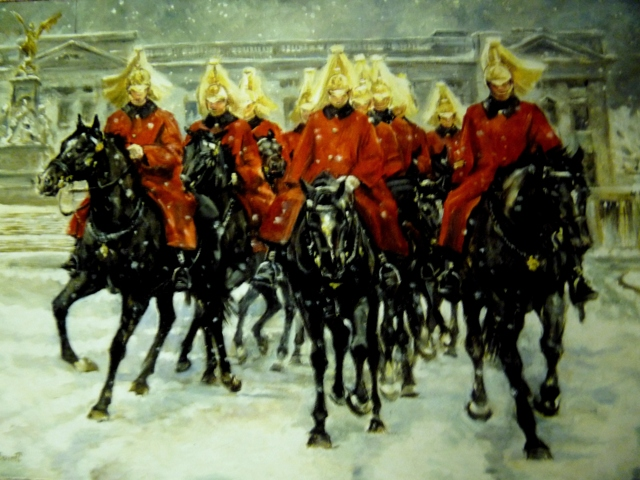 Pack of 10 Christmas Cards - All The Queens Horses