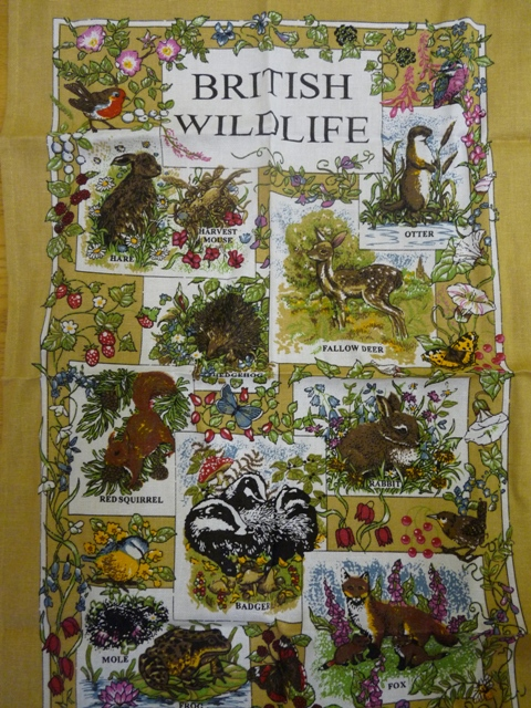 British Wildlife Teatowel